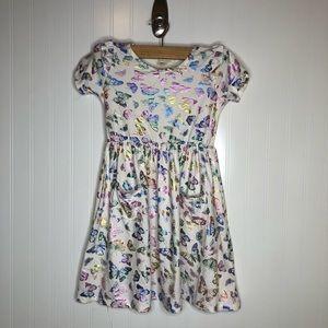 Emma & Elsa Butterflu Tshirt Dress Childs Size 6